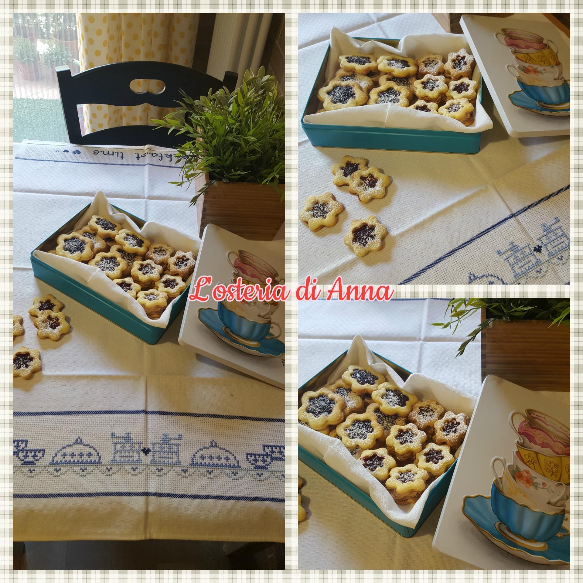 Biscotti occhio di bue alla marmellata di fragole