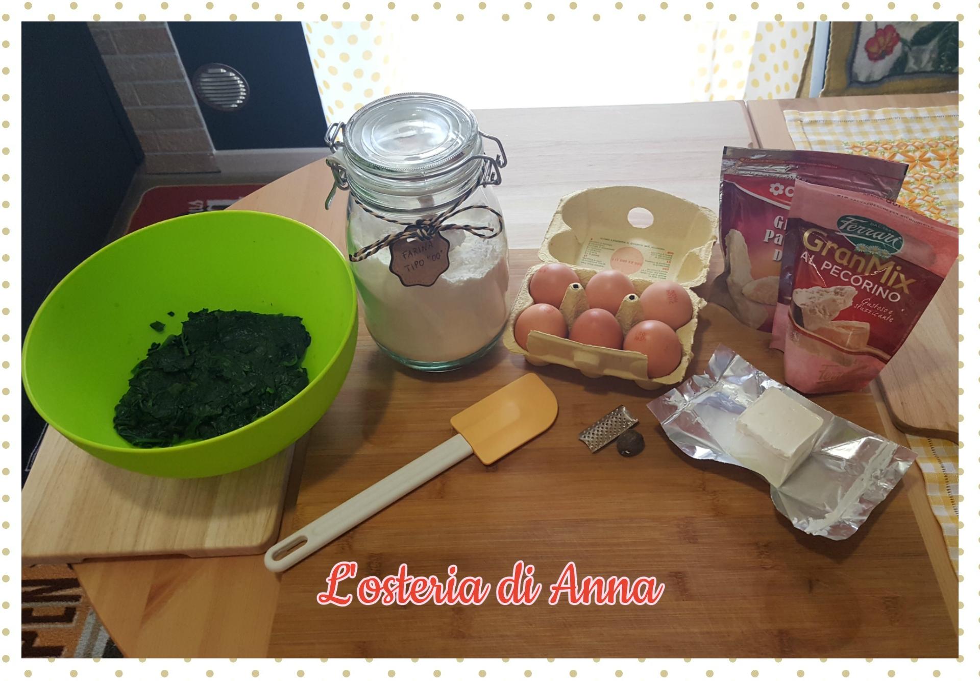 Ingredienti per gli orecchioni di pasta fresca