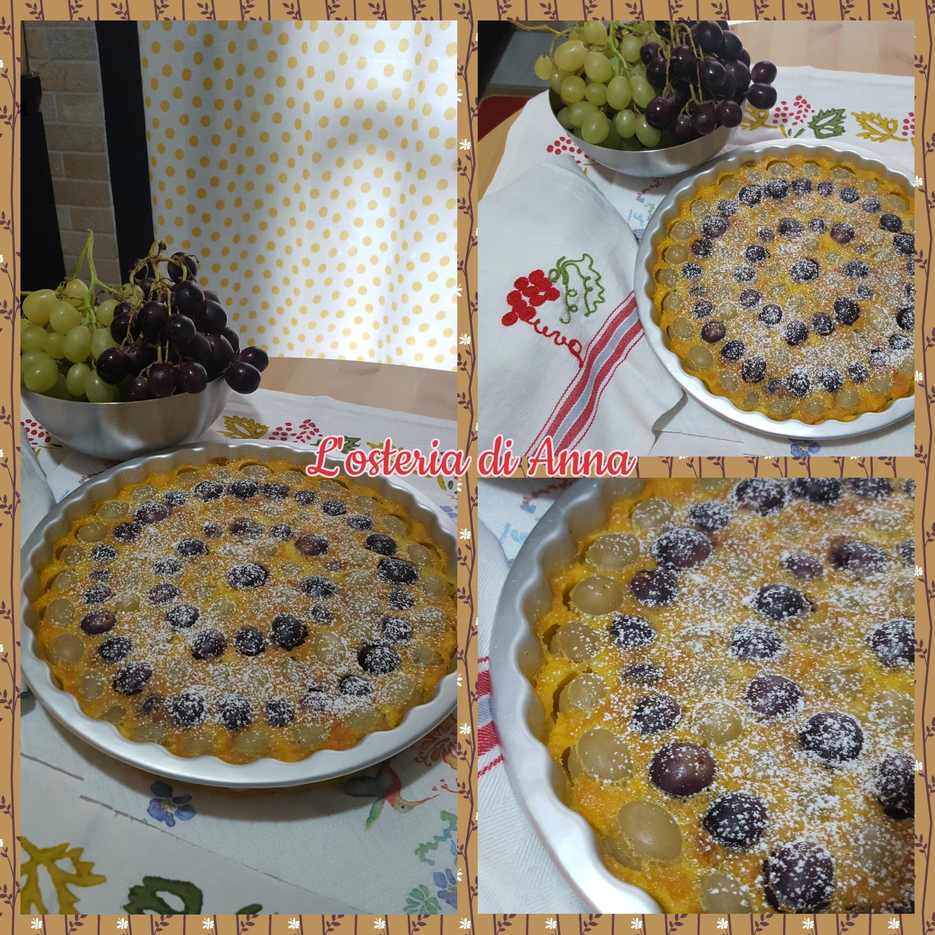 Clafoutis di uva bianca e nera
