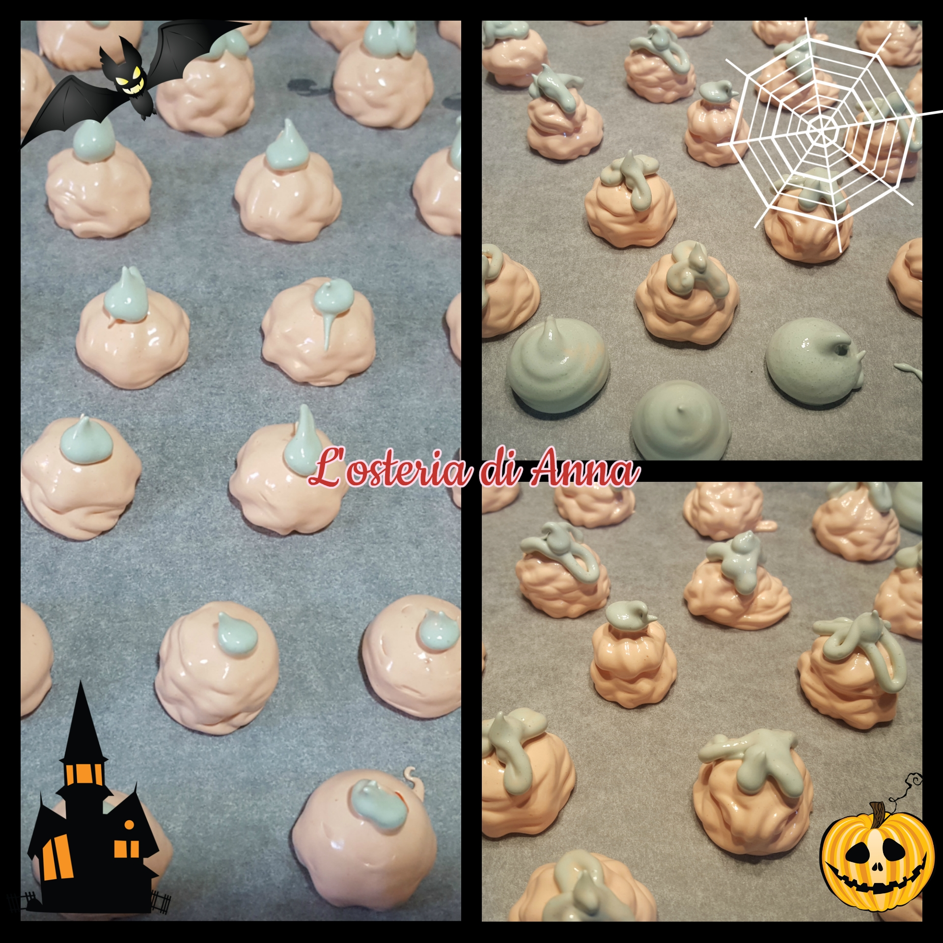 Mini zucche e fantasmini di meringhe