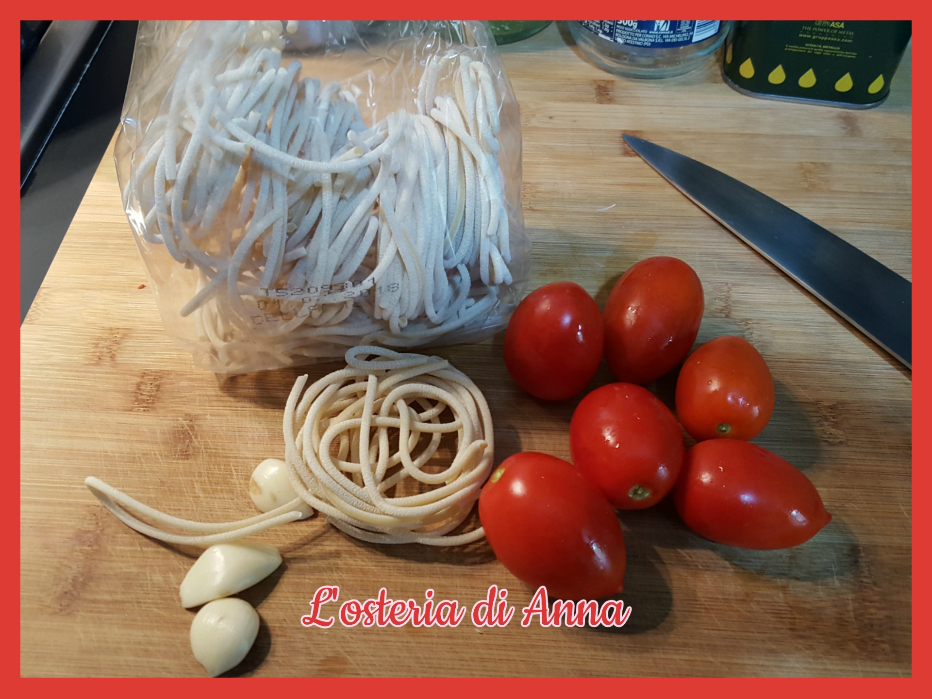 Ingredienti per i pici all'aglione