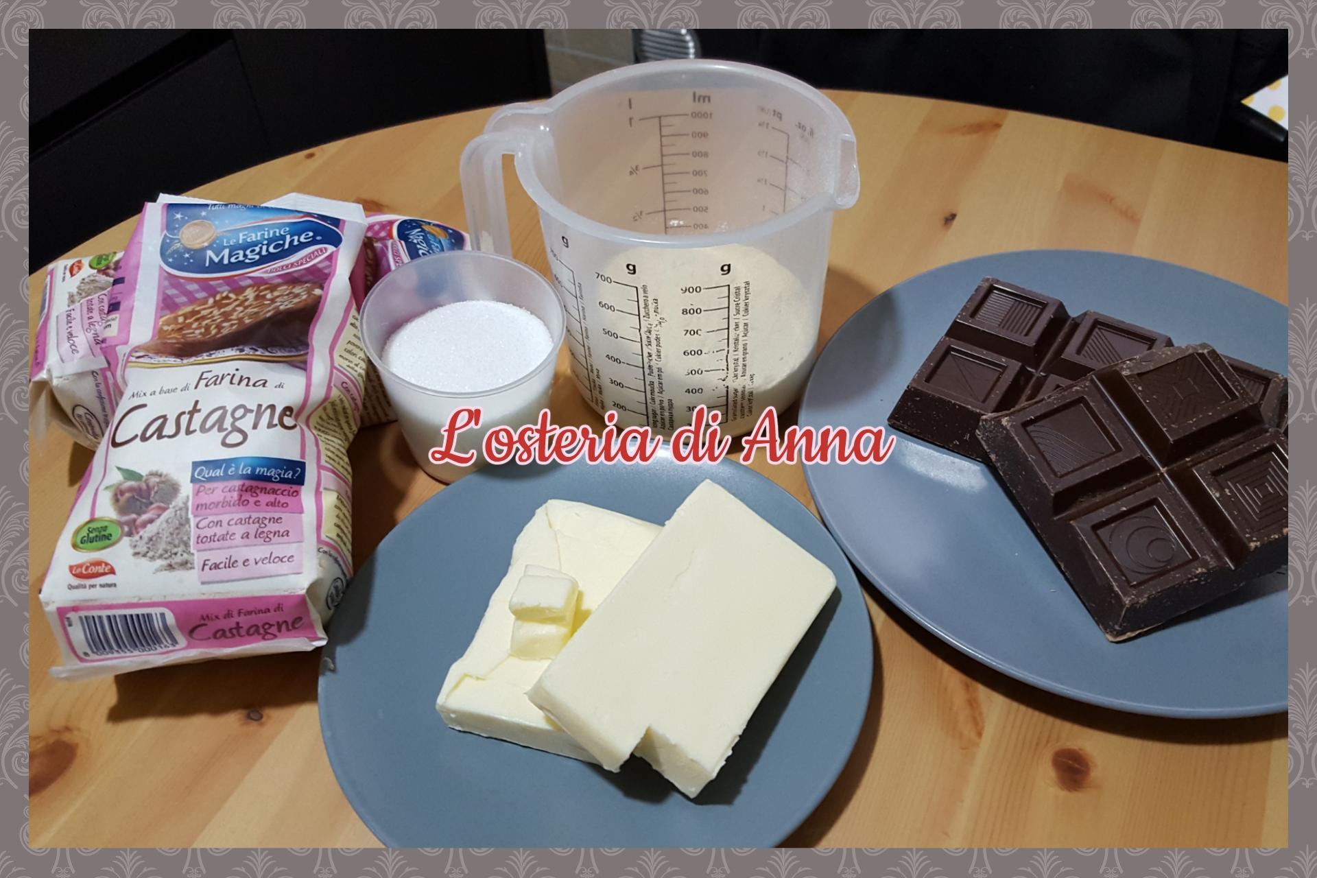 Ingredienti per i castagnotti
