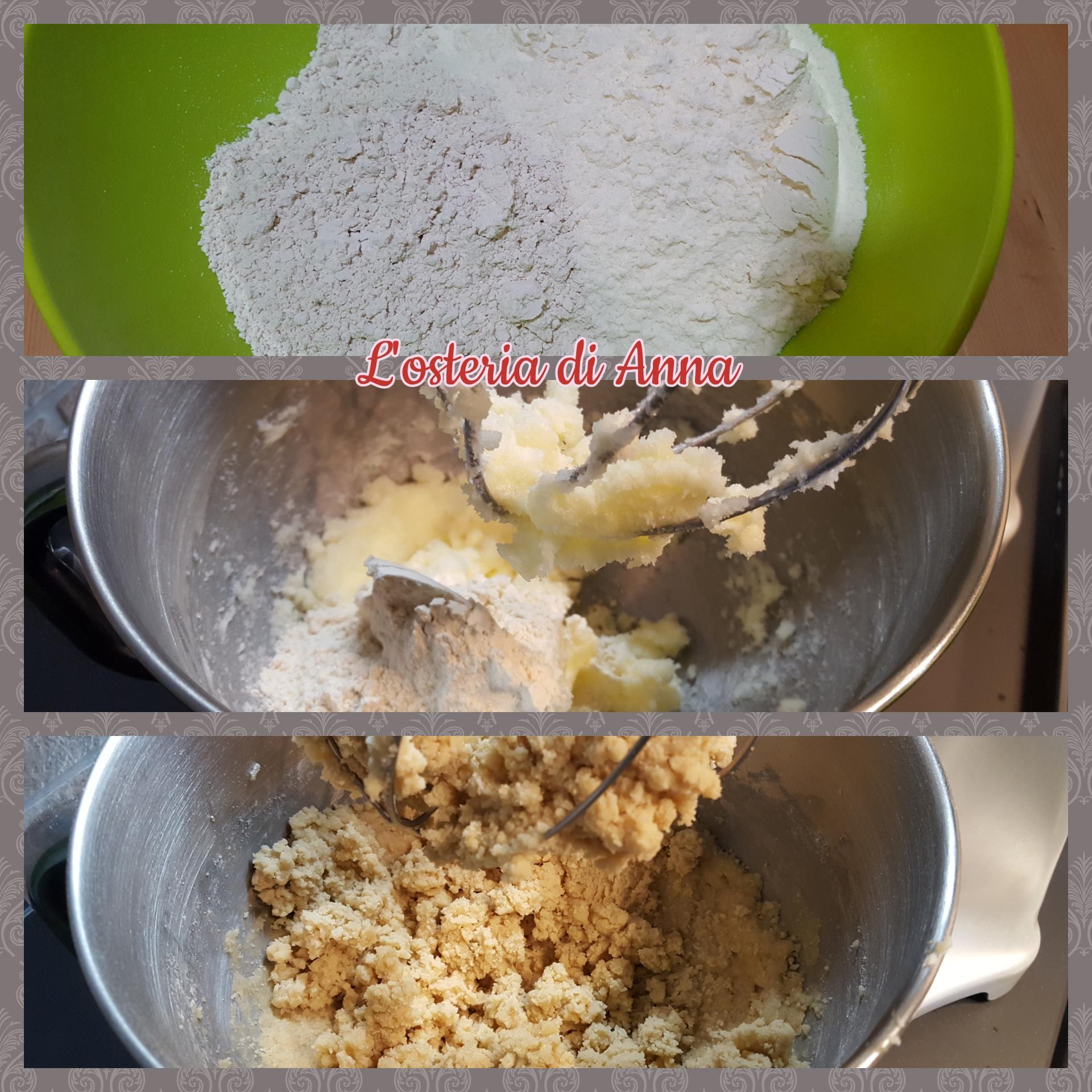 Aggiungere al burro e zucchero le farine