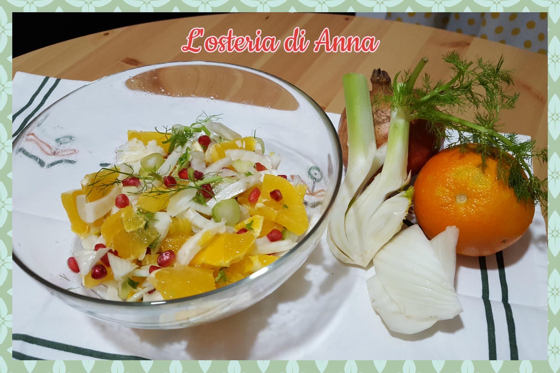 Insalata facile di finocchio, arancia e melograno