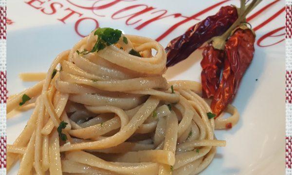 Pasta artigianale con peperoncino e colatura di alici