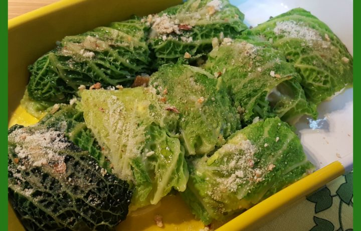 Involtini di verza con ricotta e pomodori secchi