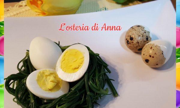 Nidi di lischi con uova di quaglia