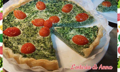 Torta salata con spinaci e ricotta
