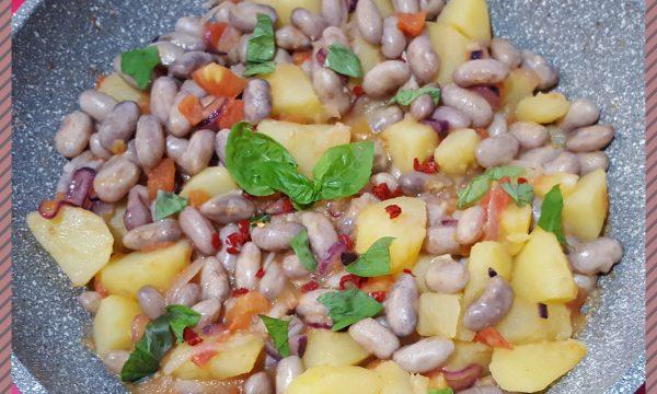Fagioli e patate al profumo di peperoncino e basilico