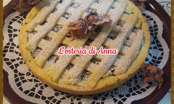 Crostata con crema al pistacchio, nocciole e fondente