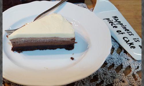 Cheesecake al triplo cioccolato