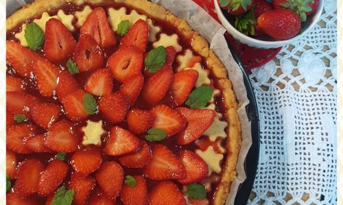 Crostata di fragole con frolla all'olio