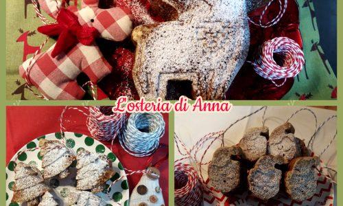 Torta e muffin natalizi (impasto pandoro al cioccolato)