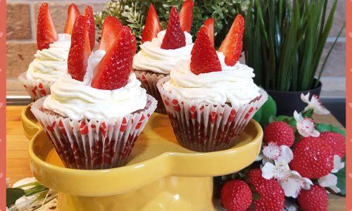 Cupcakes cioccolato e fragole