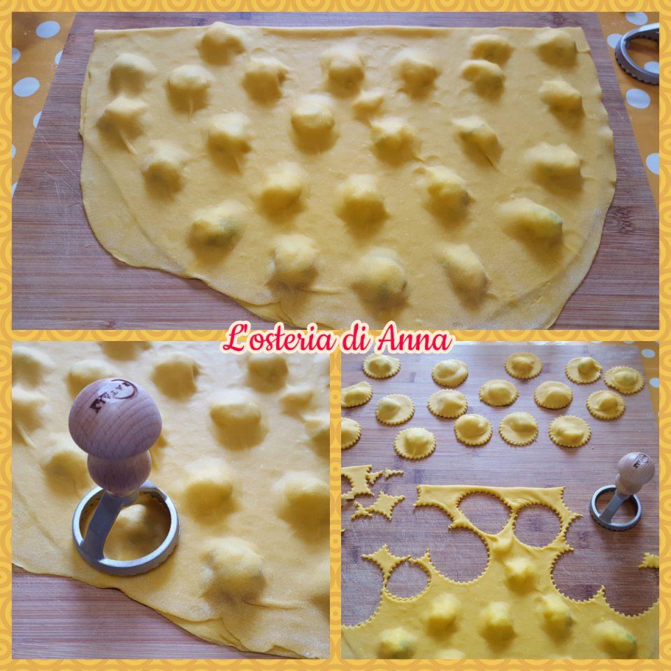 Ritagliare i pignoni di pasta fresca
