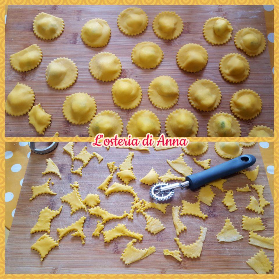 Pignoni di pasta fresca e maltagliati