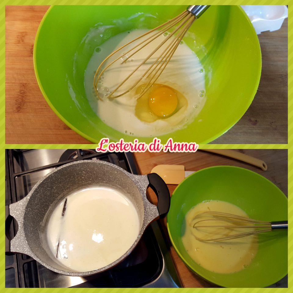 Preparazione della crema pasticcera