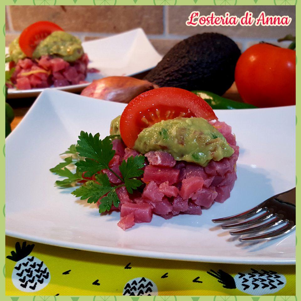 Tartare di tonno con guacamole