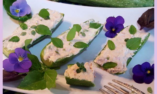 Zucchine ripiene con tonno e maionese