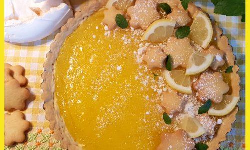 Crostata al limone (con frolla all'olio e crema all'acqua)