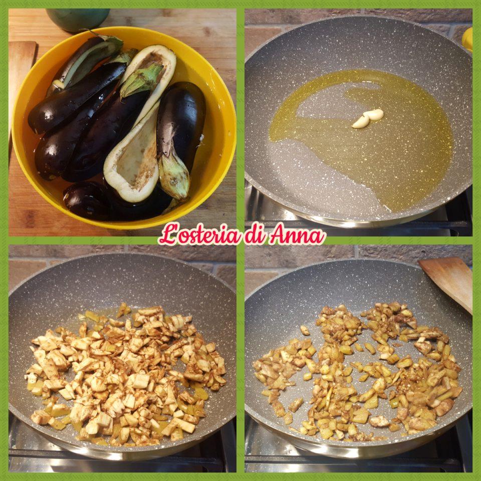 Cottura della polpa delle melanzane