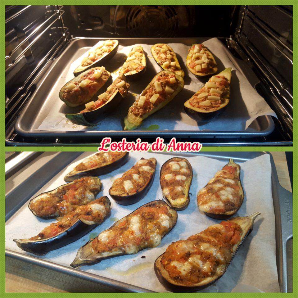 Cottura delle melanzane ripiene al forno