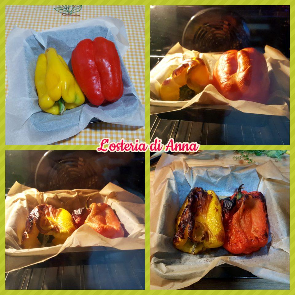 Cottura dei peperoni al forno