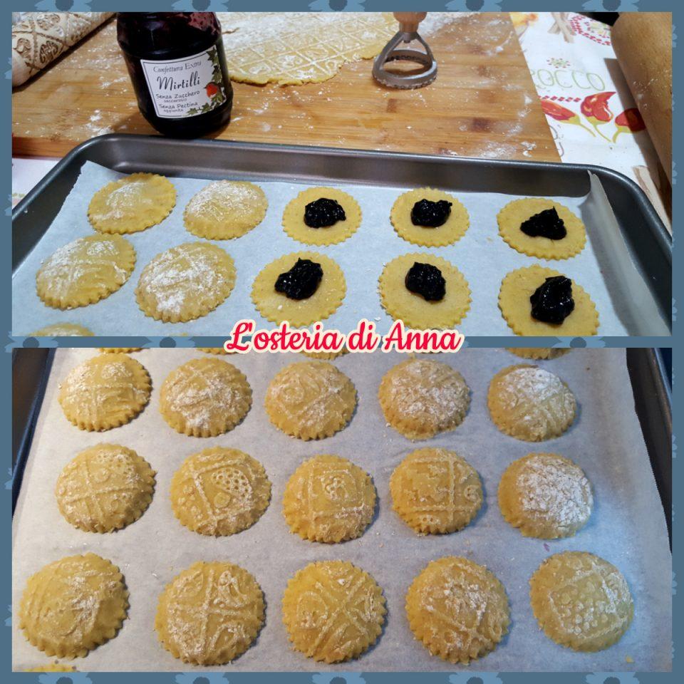Assemblaggio dei biscotti ripieni