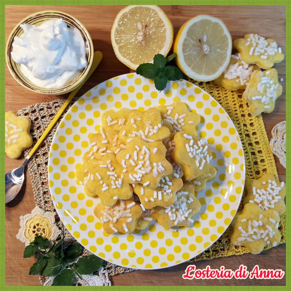 Biscotti morbidi allo yogurt greco e limone