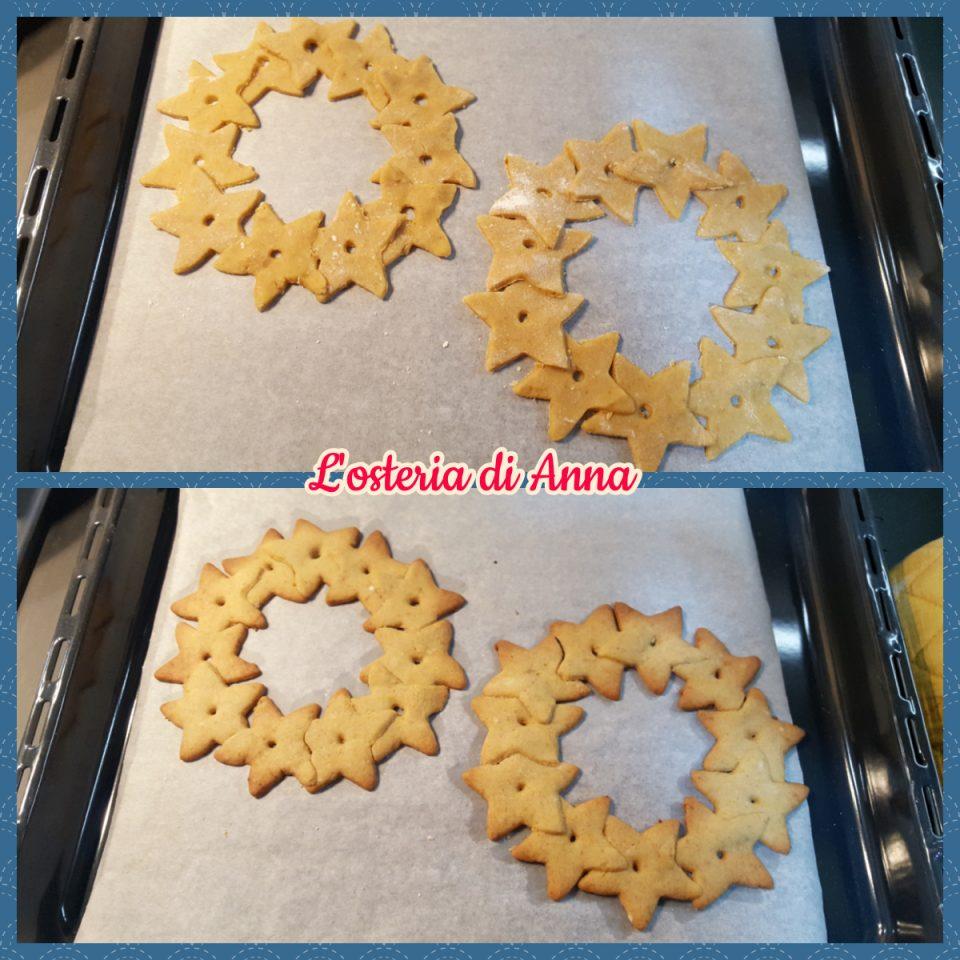 Cottura delle ghirlande di biscotti al forno