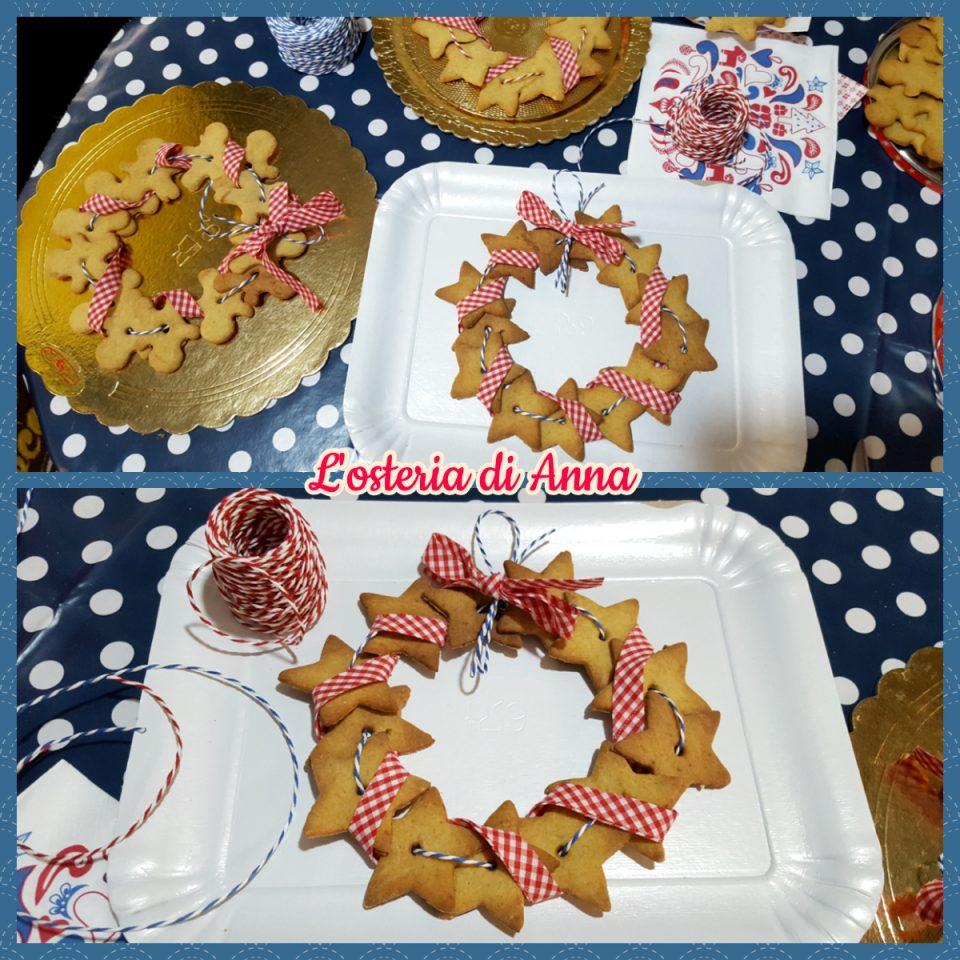 Ghirlande di biscotti allo zenzero