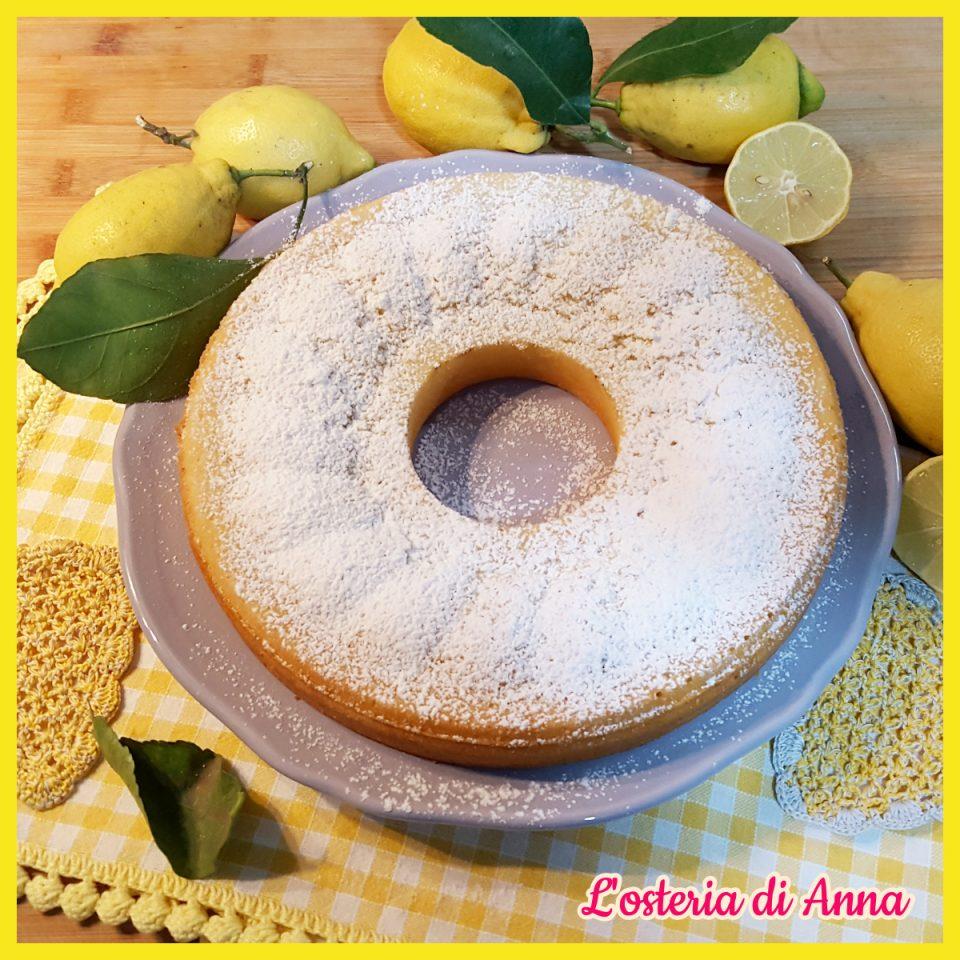 Ciambella all'acqua al limone