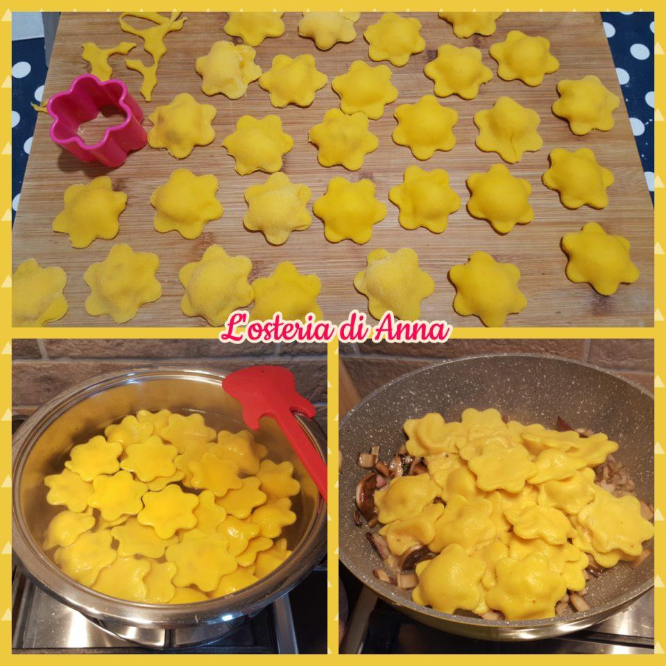 Cottura dei fiori di pasta