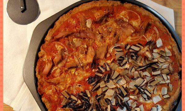 Pizza con farina di segale integrale
