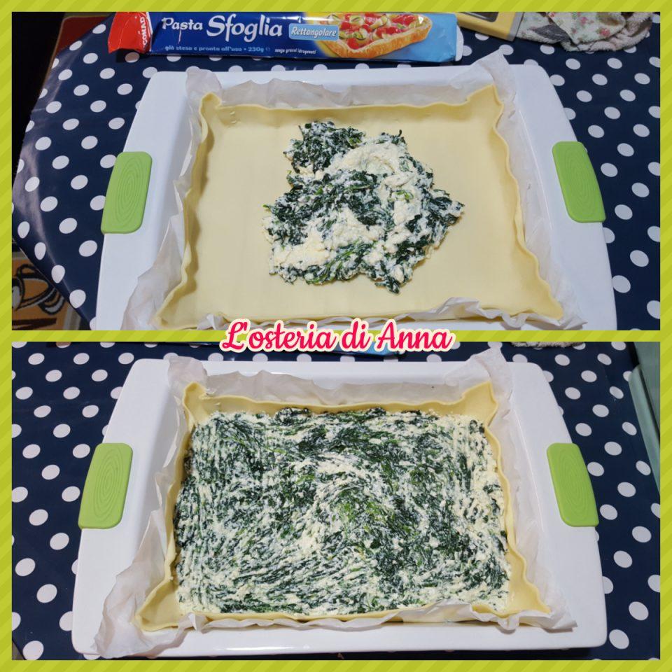 Preparazione torta rustica