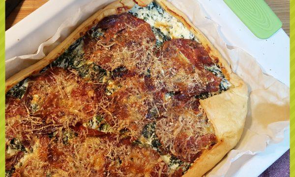 Torta salata ricotta, spinaci e capocollo