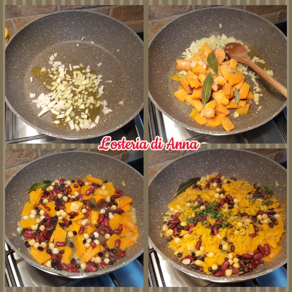 Cottura dei legumi e della zucca