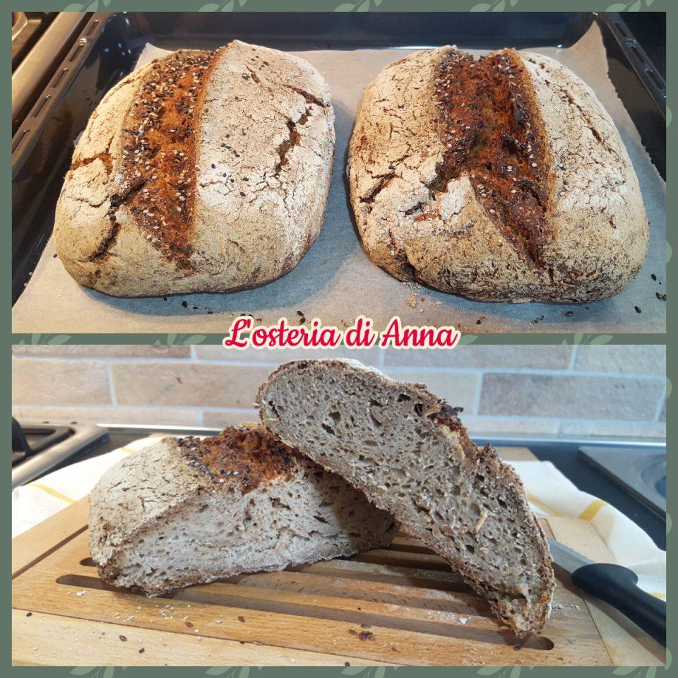 Pane segale dopo la cottura