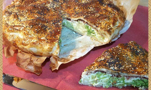 Torta rustica con broccoli, ricotta e capocollo