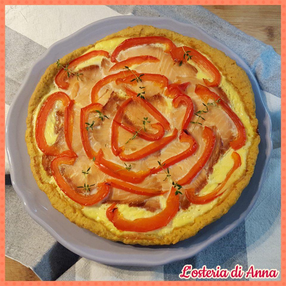 Torta salata alla curcuma
