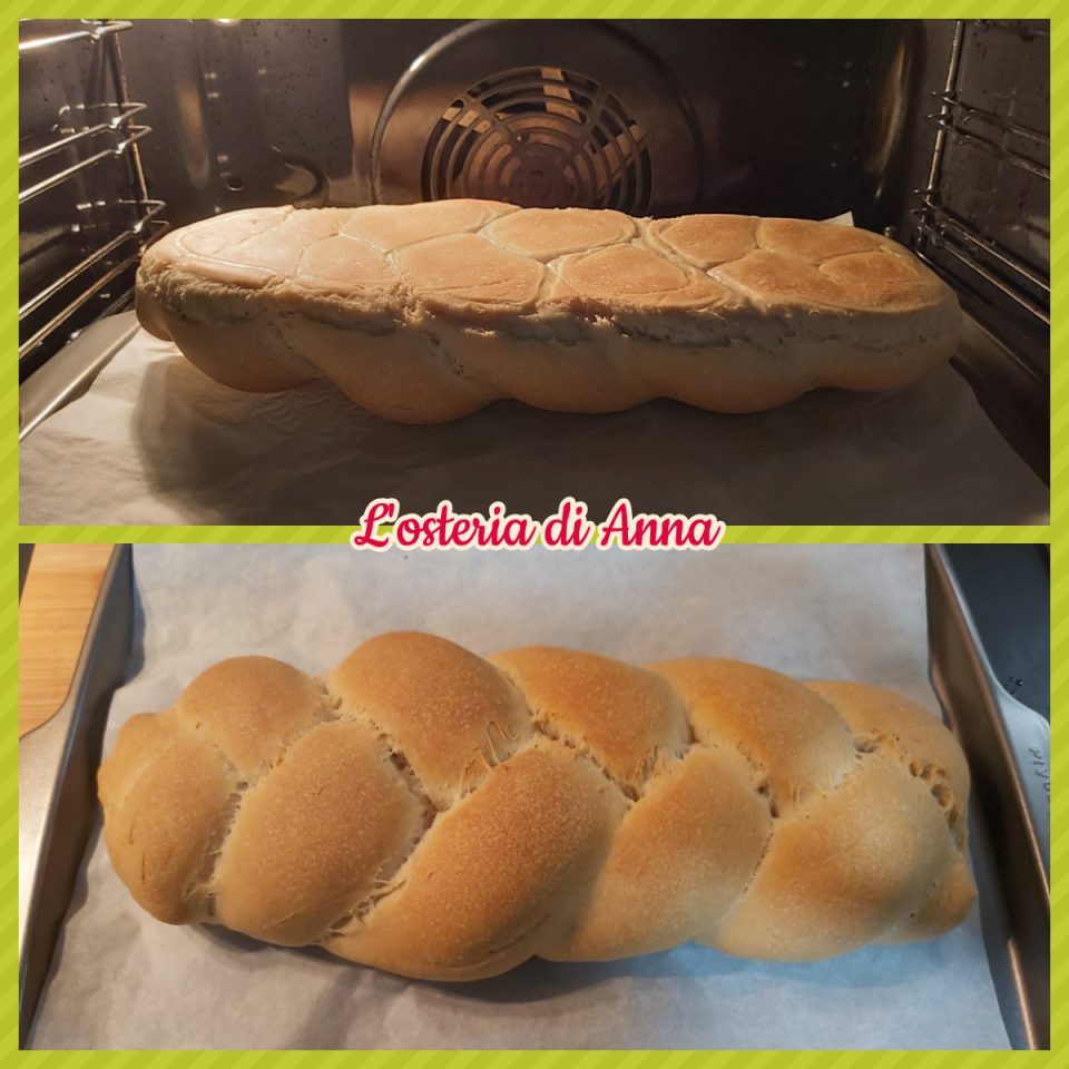 Cottura treccia di pane