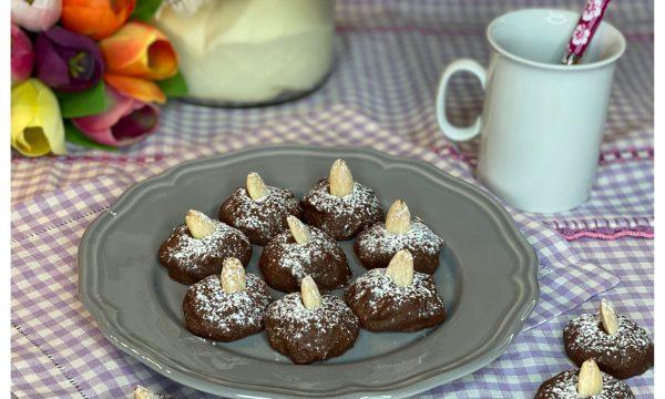 Biscotti morbidi al cacao e mandorle (con lievito madre)