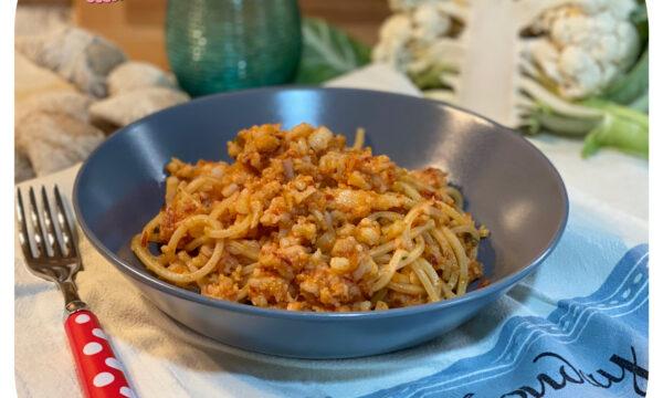 Spaghetti al ragù di cavolfiore