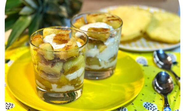 Dessert veloce all'ananas
