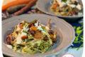 Tagliatelle con carote bicolore, radicchio e besciamella