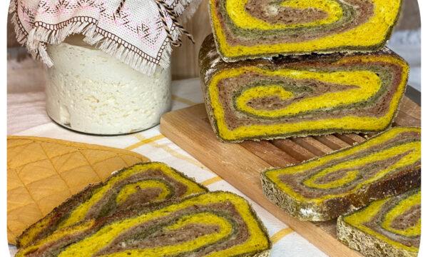 Pane tre colori (con lievito madre)