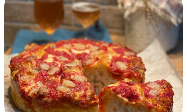 Pizza Chicago (con lievito madre)