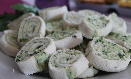 Girelle con rucola prosciutto e formaggio cremoso