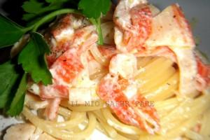 Spaghetti salmone e panna