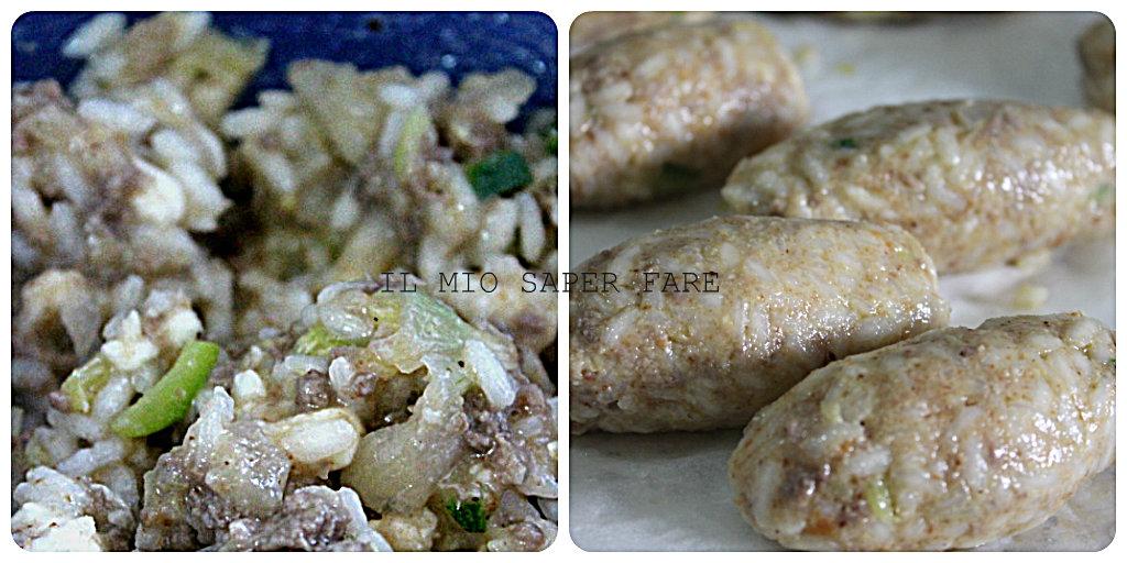 crocchette di riso al forno con verdure